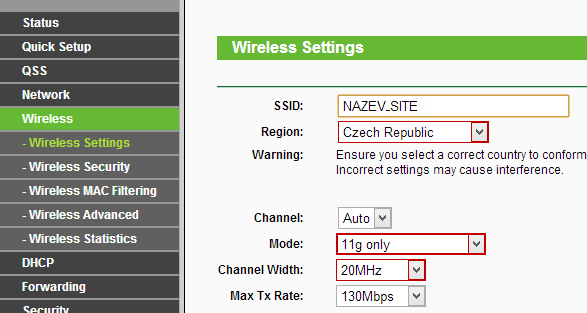 tp-link-wireless-settings